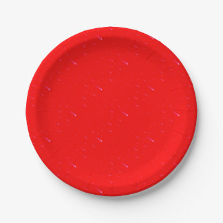Red Falling Christmas Falling Stars Paper Plate