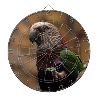 Red Fan Parrot Dartboard With Darts
