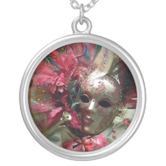 Red Fantasy Angel Silver Plated Necklace
