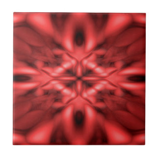 Red fantasy pattern small square tile