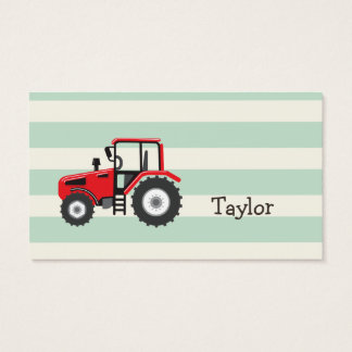 Red Farm Tractor Business Card