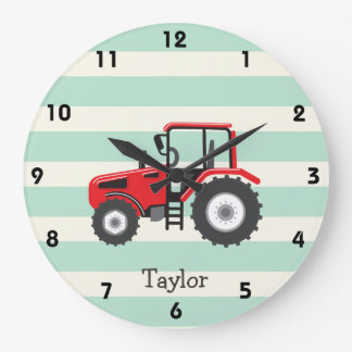 Red Farm Tractor Clocks