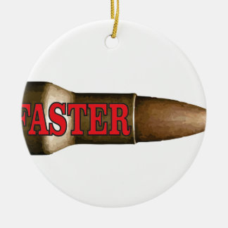 red faster bullet round ceramic decoration