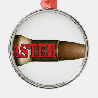 red faster bullet Silver-Colored round decoration