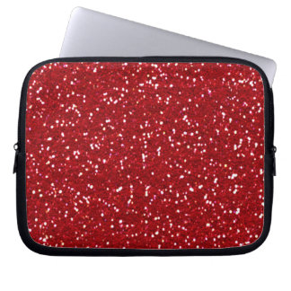 RED (faux) GLITTER LAPTOP SLEEVE