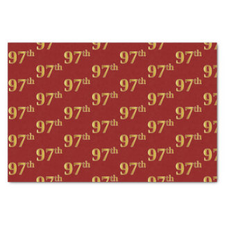 Red, Faux Gold 97th (Ninety-Seventh) Event Tissue Paper