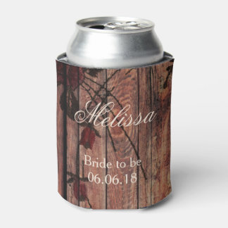 Red Faux Lace Bride to Be Can Cooler