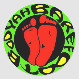 red feet sticker