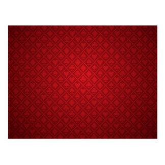 Red Felt Poker Table Design Postcard