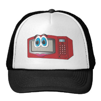 Red Female Cartoon Microwave Mesh Hat