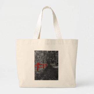 Red Fence Large Tote Bag