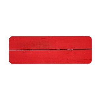 Red Fence Return Address Label