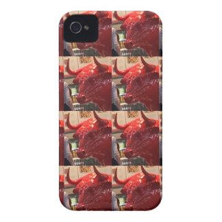 Red ferocious bull head Heathrow Airport London UK iPhone 4 Cases