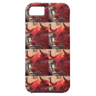 Red ferocious bull head Heathrow Airport London UK iPhone 5 Covers