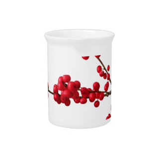 Red Festive Berrys Pitcher