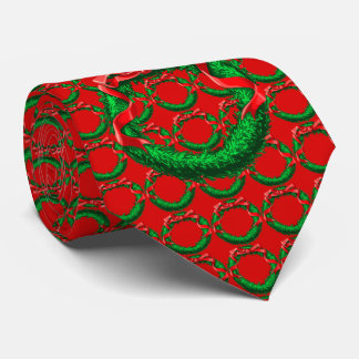 Red Festive Wreath Tie