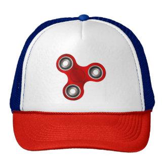 Red Fidget Spinner Fun Trucker's Hat Cap