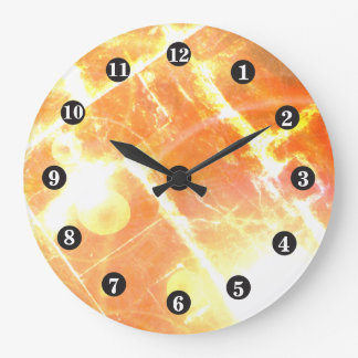 Red Fiery Clock