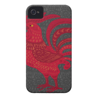 Red Fire Chicken Year iPhone 4 Case-Mate Case