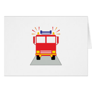 Red Fire Engine Greeting Cards