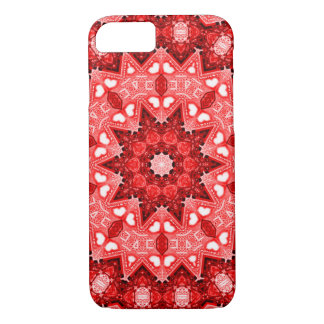 Red Fire Flower Fractal iPhone 7 Case