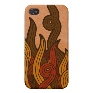Red Fire iPhone 4 Cover