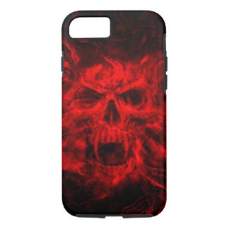 red fire skull head iPhone 7 case