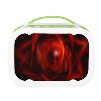 Red Fire Sphere Lunch Box