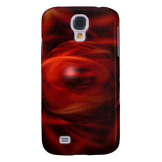Red Fire Sphere Samsung Galaxy S4 Cover