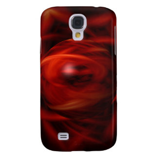 Red Fire Sphere Samsung Galaxy S4 Covers
