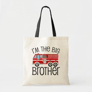 Red Fire Truck Big Brother Budget Tote Bag