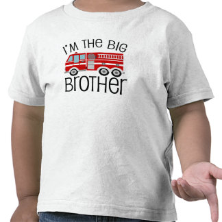 Red Fire Truck Big Brother Tee Shirts