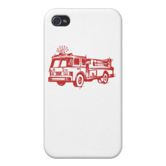 Red Fire Truck Cover For iPhone 4
