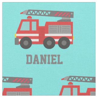 Red Fire Truck Kids Decorative Fabric
