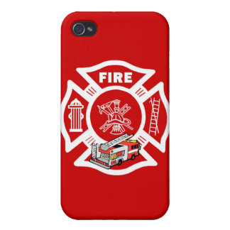 Red Fire Truck Rescue iPhone 4/4S Case