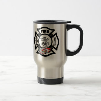 Red Fire Truck Rescue Stainless Steel Travel Mug