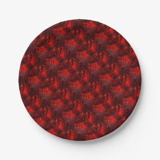 Red Fireball Paper Plate