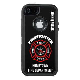 Red Firefighter Name Template OtterBox iPhone 5/5s/SE Case