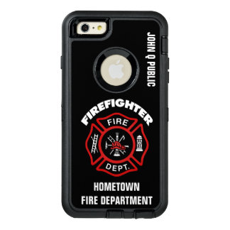 Red Firefighter Name Template OtterBox iPhone 6/6s Plus Case