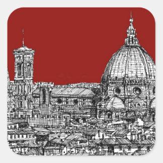 Red Firenze italia Stickers