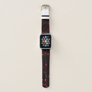 Red Fireworks Apple Watch Band