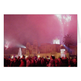 Red Fireworks In Balboa Park Cards