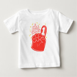 Red First Birthday Foam Finger Kids Shirt