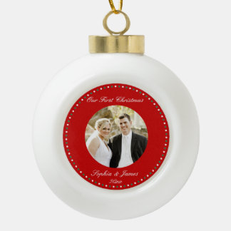 Red First Christmas Together Ornament Ball