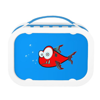 Red Fish Blue Kids Name Lunch Box School