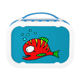 Red Fish Box Lunch Box