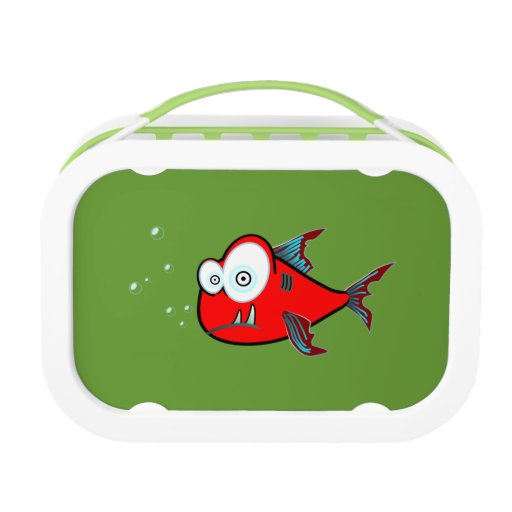 Red Fish Green Kids Name Lunch Box School