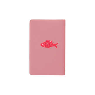 Red fish pocket moleskine notebook