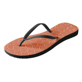 Red Fish Scales Thongs