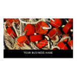 Red fishing nets seafood business  card template business card